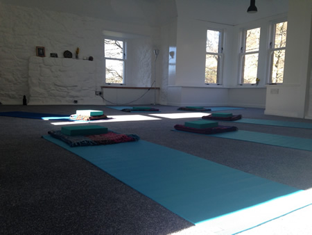 hostel yoga studio